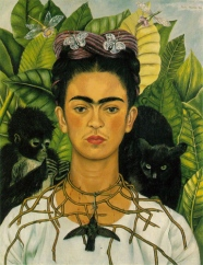 Frida was another fully realized adult, burdens and all. A treat to see this original self-portrait on display!